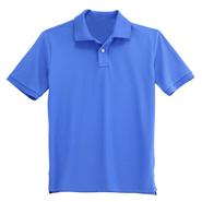 纯棉珠地网眼翻领T恤衫【深蓝色】(批量现货供应,号码齐全)