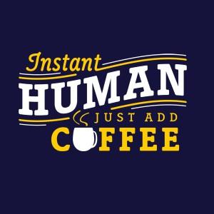 human coffee 字母个性T恤图案
