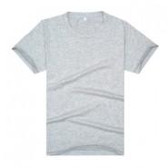 【2014新品】麻灰色精品莱卡棉空白文化衫(可印字或图案)
