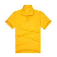 经典大黄色品质翻领T恤衫(现货可印logo图案)