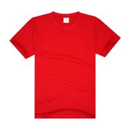 中国红经典必威手机登录圆领广告衫(现货可印图案、文字及logo)