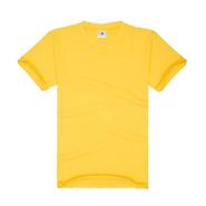 大黄色必威手机登录圆领广告衫系列(现货可印logo图案)