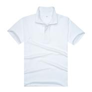 畅销版经典白色珠地网眼棉POLO衫(现货可印logo图案)