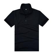 高性价比经典黑色翻领POLO衫(现货可印logo图案)