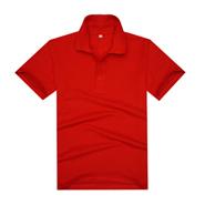 中国红经典翻领T恤polo衫(现货可印logo图案)