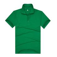 草绿色珠地网眼棉翻领T恤衫(现货可印logo图案)