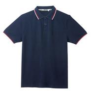 必威体育娱乐app官网款藏蓝色商务休闲系列POLO衫