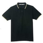 定制款经典黑色商务系列网眼棉POLO衫