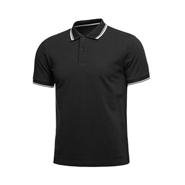 经典黑色商务广告polo衫