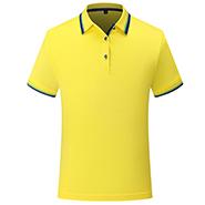 亮黄色新款翻领T恤衫-定制LOGO